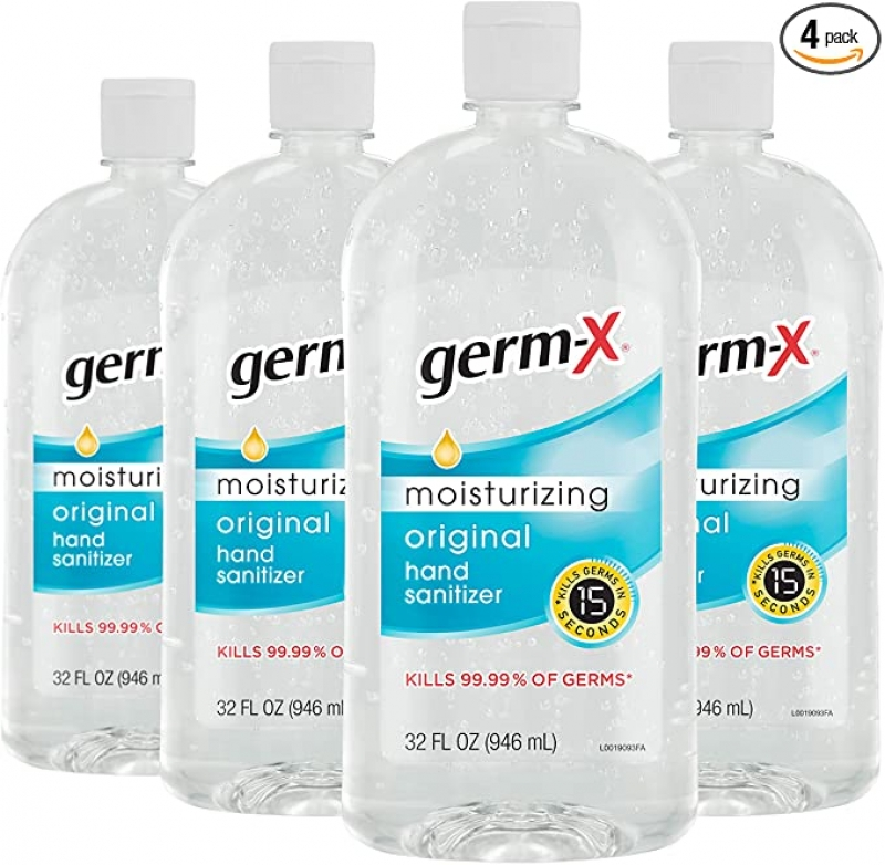 ihocon: Germ-X Hand Sanitizer, Original, 32 Fluid Ounce (Pack of 4)手部消毒液/乾洗手