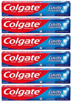 ihocon: Colgate Cavity Protection Toothpaste with Fluoride - 6 Ounce (Pack of 6) 高露潔防蛀牙膏