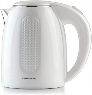 ihocon: Ovente Electric Hot Water Kettle 1.7 Liter雙層不銹鋼電熱水瓶
