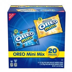 ihocon: OREO Mini Mix Sandwich Cookies Variety Pack, 20 - 1 oz Packs 餅乾