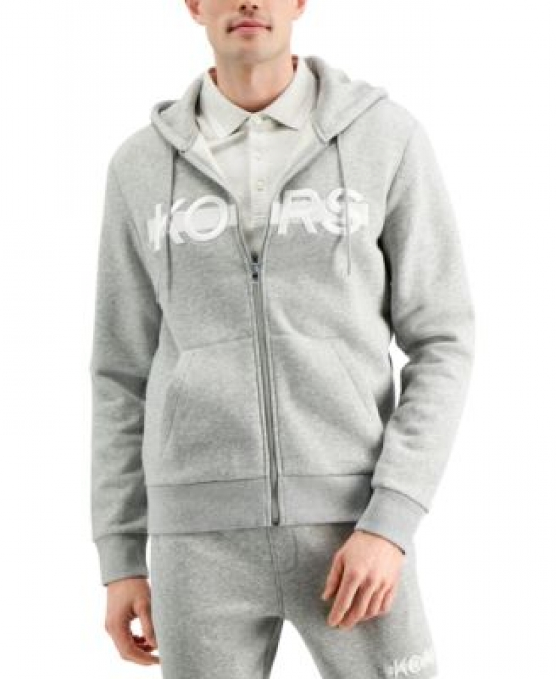 ihocon: Michael Kors Men's Regular-Fit Logo Embroidered Fleece Hoodie, Created for Macy's   男士常規版型徽標刺繡抓絨連帽衫,專為 ' 打造