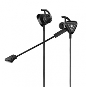 ihocon: Turtle Beach Battle Buds In-Ear Gaming Headset for Mobile Gaming, Nintendo Switch, Xbox One, PS4, Pro, & PC - Black/Silver - Nintendo Switch 遊戲耳機