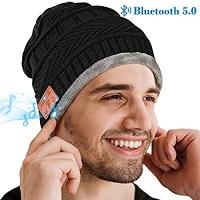 ihocon: [男, 女均適用] HIGHEVER Bluetooth Beanie Hat 內建藍牙耳機毛線帽