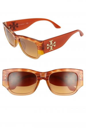ihocon: TORY BURCH 52mm Gradient Rectangular Sunglasses太陽眼鏡