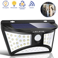 ihocon: LECLSTAR Solar Motion Sensor Light Outdoor, 68 LED 太陽能運動感應戶外燈
