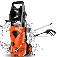 ihocon: Suyncll Pressure Washer 3000PSI Electric Power Washer with Hose Reel and Brush 高壓強力清洗機