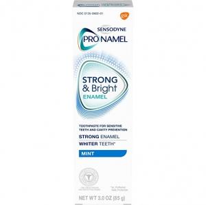 ihocon: Sensodyne Pronamel Strong and Bright Enamel Toothpaste for Sensitive Teeth, to Reharden and Strengthen Enamel, Mint - 3 Ounces 敏感齒強壯及美白牙膏