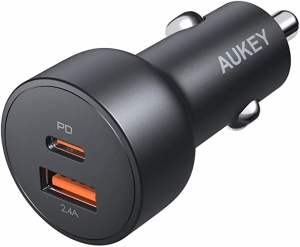 ihocon: Aukey 30W USB-C Car Charger with Quick Charge 3.0汽車充電器