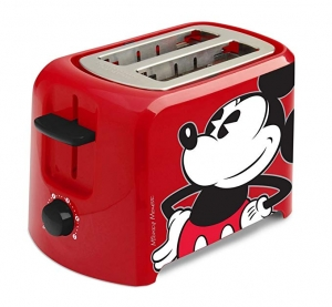 ihocon: Disney DCM-21 Mickey Mouse 2 Slice Toaster, Red/Black, 1, 迪士尼米奇烤麵包機