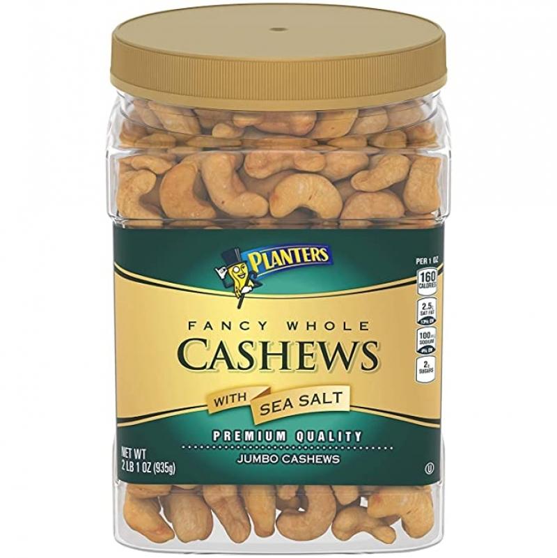 ihocon: Planters Fancy Whole Cashews With Sea Salt, 33 Oz. 海鹽腰果