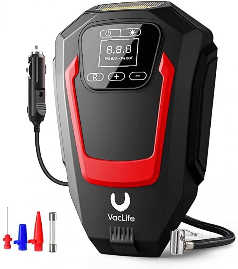 ihocon: VacLife Air Compressor Tire Inflator 汽車電動輪胎打氣機