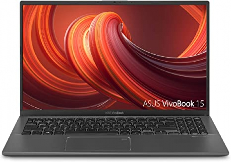 "ihocon: ASUS VivoBook 15 Thin and Light Laptop, 15.6"" FHD, Intel i3-1005G1 CPU, 8GB RAM, 128GB SSD, Backlit KB, Fingerprint, Windows 10 Home in S Mode, F512JA-AS34"