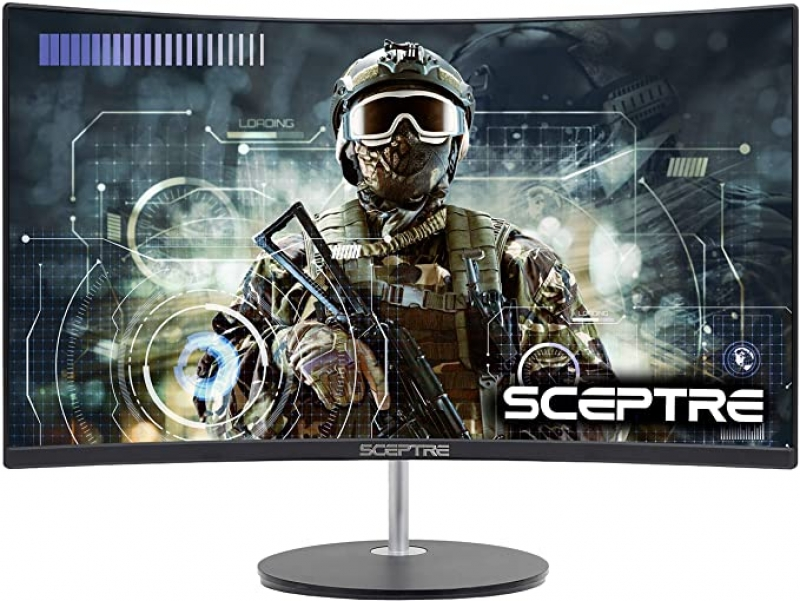 ihocon: Sceptre Curved 27 75Hz LED Monitor HDMI VGA Build-In Speakers曲形電腦螢幕
