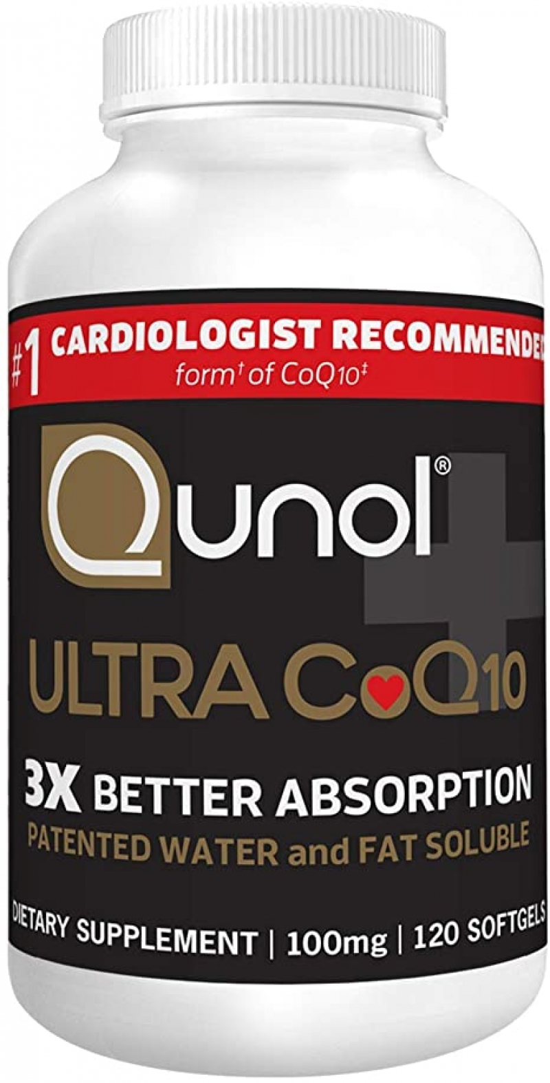 ihocon: Qunol Ultra CoQ10 100mg, 3x Better Absorption, 120 Count