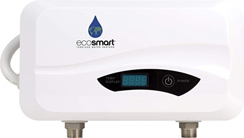 ihocon: Ecosmart POU 6 Point of Use Electric Tankless Water Heater, 6 KW,White,1/20, 1/40, 1/95   無水箱水點火電熱水器