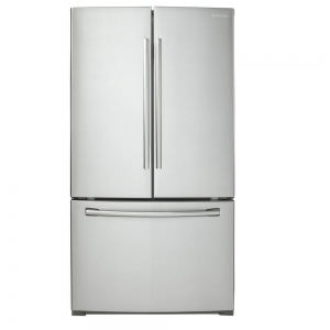 ihocon: Samsung 25.5 cu. ft. French Door Refrigerator in Stainless Steel 不銹鋼法式門冰箱