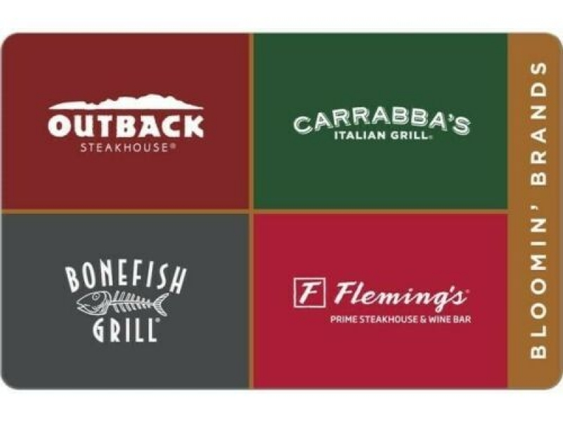 ihocon: $30 Outback Carrabba's bonefish flemings PDF Certificate Gift Card
