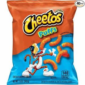 ihocon: Cheetos Puffs Cheese Flavored Snacks, 0.875 Ounce, Pack of 40