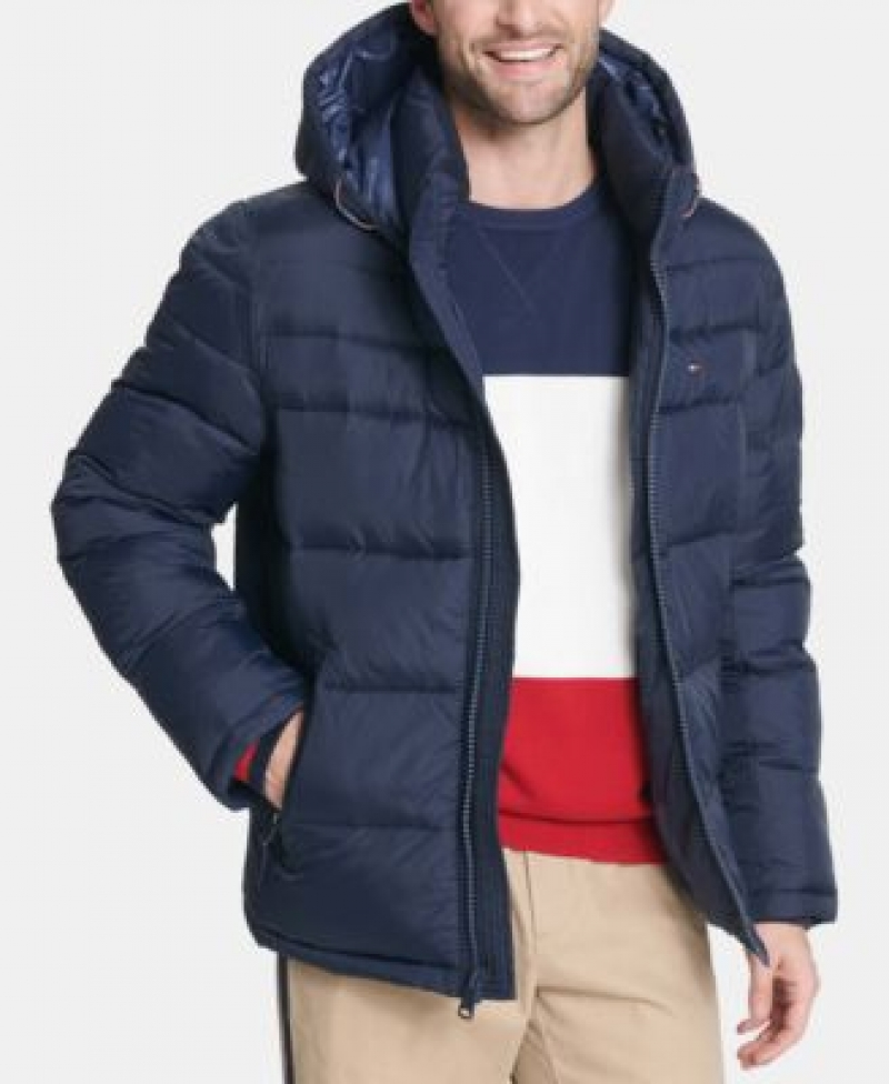 ihocon: Tommy Hilfiger Men's Quilted Puffer Jacket 男士夾克-多色可選