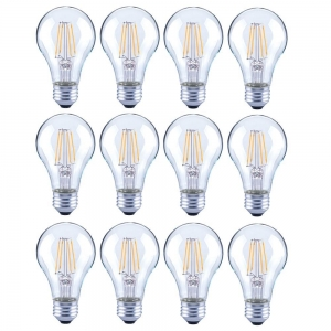 ihocon: Lighting Science Dimmable 40W Clear Glass Filament LED Light Bulbs, (12-Pack)光線微調燈泡