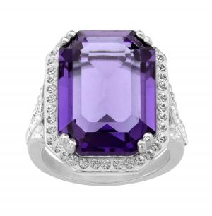 ihocon: Ring with Purple Swarovski Crystals 純銀鑲施華洛世奇水晶戒指