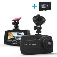 ihocon: Spedal Dash Cam with GPS, 2.7 LCD Full HD 1080P Dashboard Camera, G-Sensor, Motion Detection, Loop Recording, Night Vision(FREE 32G SD Card Included) 行車記錄器, 送32GB記憶卡