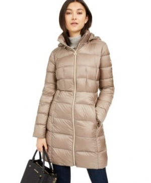 ihocon: MICHAEL Michael Kors Hooded Long Packable Down Puffer Coat女士連帽羽絨外套-多色可選