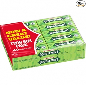 ihocon: Wrigley's Doublemint Chewing Gum, 5-count (40 Packs) 箭牌薄荷口香糖 40包