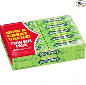 Wrigley's Doublemint 箭牌薄荷口香糖 40包 $6.64免運