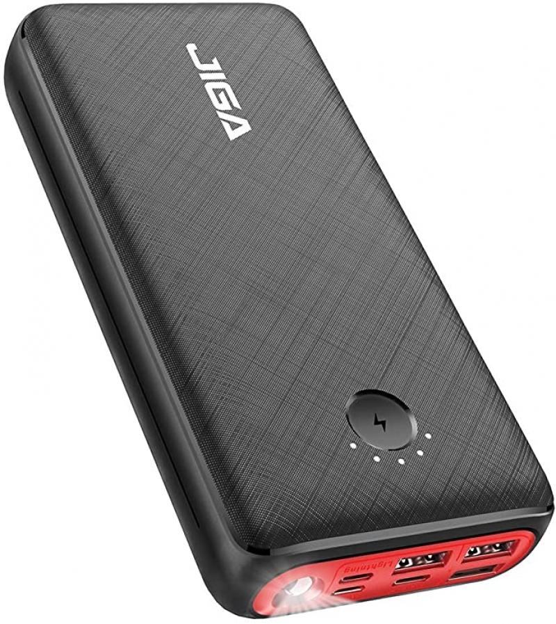 ihocon: JIGA 30000mAh Portable Charger, Fast Charging USB C Power Bank 行動電源/充電寶