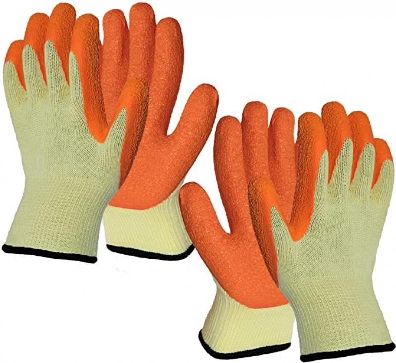 ihocon: Hanhelp Safety 2 Pairs Superior Grip Garden Work Gloves 園藝手套2副