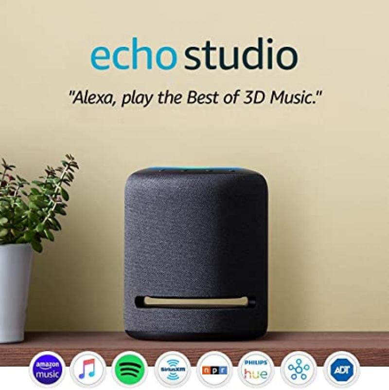 ihocon: Echo Studio - High-fidelity smart speaker with 3D audio and Alexa 智能揚聲器
