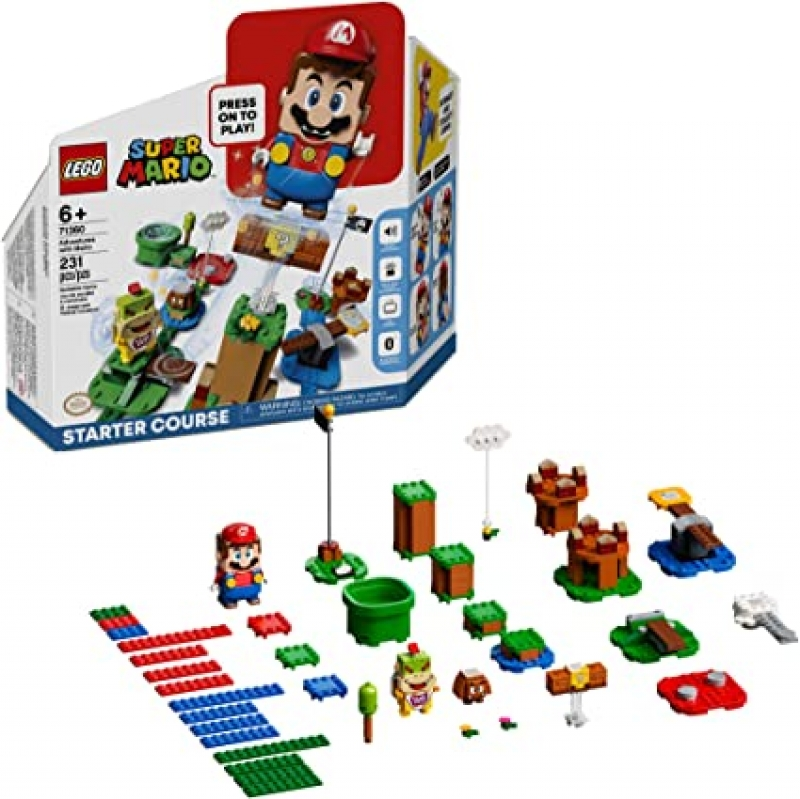 ihocon: 樂高超級瑪利歐 LEGO Super Mario Adventures with Mario Starter Course 71360 Building Kit(231 Pieces)