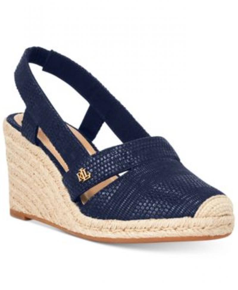 ihocon: Lauren Ralph Lauren Penelopie Wedge Sandals 女士涼鞋