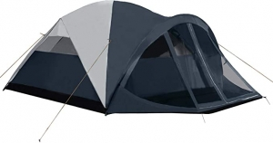 ihocon: Pacific Pass Camping Tent 6 Person Family Dome Tent with Screen Room & Removable Rain Fly 6人家庭帳