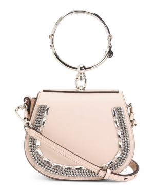 ihocon: CHLOE Made In Italy Jeweled Leather Shoulder Bag 義大利製包包