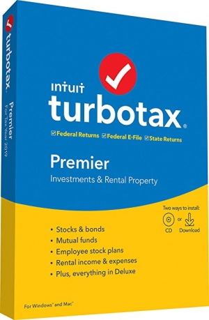ihocon: [報稅軟體] TurboTax Premier + State 2019 Tax Software [PC/Mac Disc]