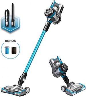 ihocon: Eureka NEC222 HyperClean Cordless Vacuum Cleaner, Super for All Carpet and Hardwood Floor, Stick and Handheld with Powerful Digital Motor 無線手持吸塵器
