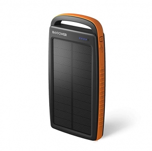 ihocon: RAVPower 20000mAh Portable Solar Power Bank 太陽能行動電源/充電寶