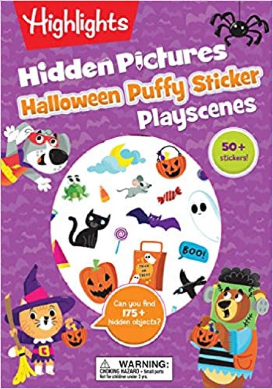 ihocon: Halloween Hidden Pictures Puffy Sticker Playscenes (Highlights Puffy Sticker Playscenes) 萬聖節隱藏圖片/貼紙書