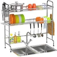 ihocon: Veckle Over the Sink Dish Drying Rack 雙層水槽碗架