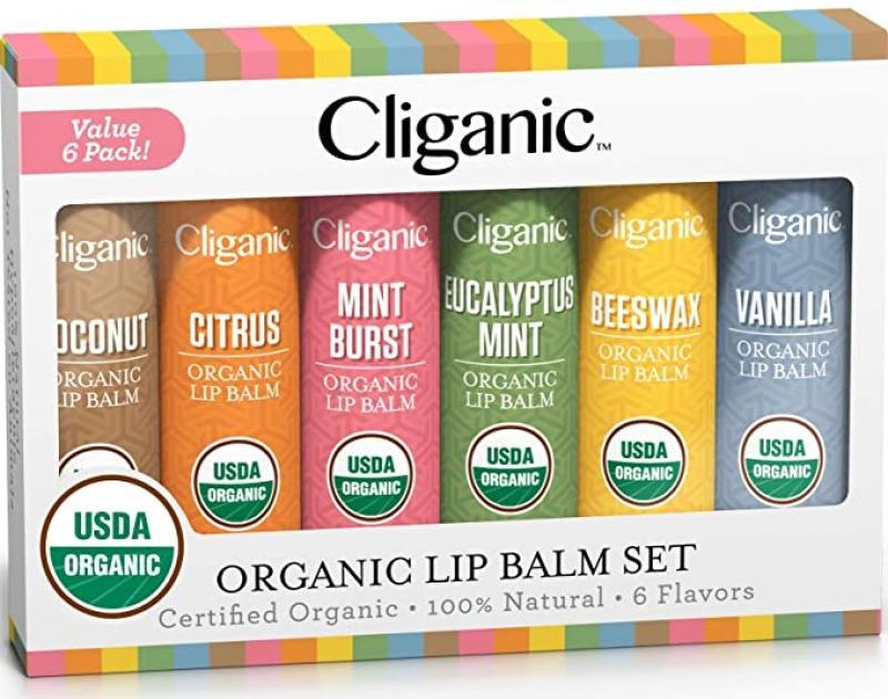 ihocon: Cliganic USDA Organic Lip Balm Set - 6 Flavors 有機潤唇膏