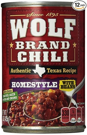 ihocon: WOLF BRAND Homestyle Chili With Beans, 15 oz., 12 Pack