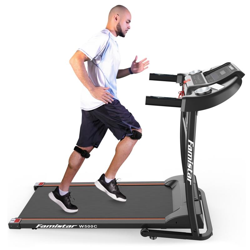 ihocon: Famistar W500C Folding Electric Treadmill, Built-in Speaker, 12 Preset Programs, 3 Countdown Modes 折疊式電動跑步機