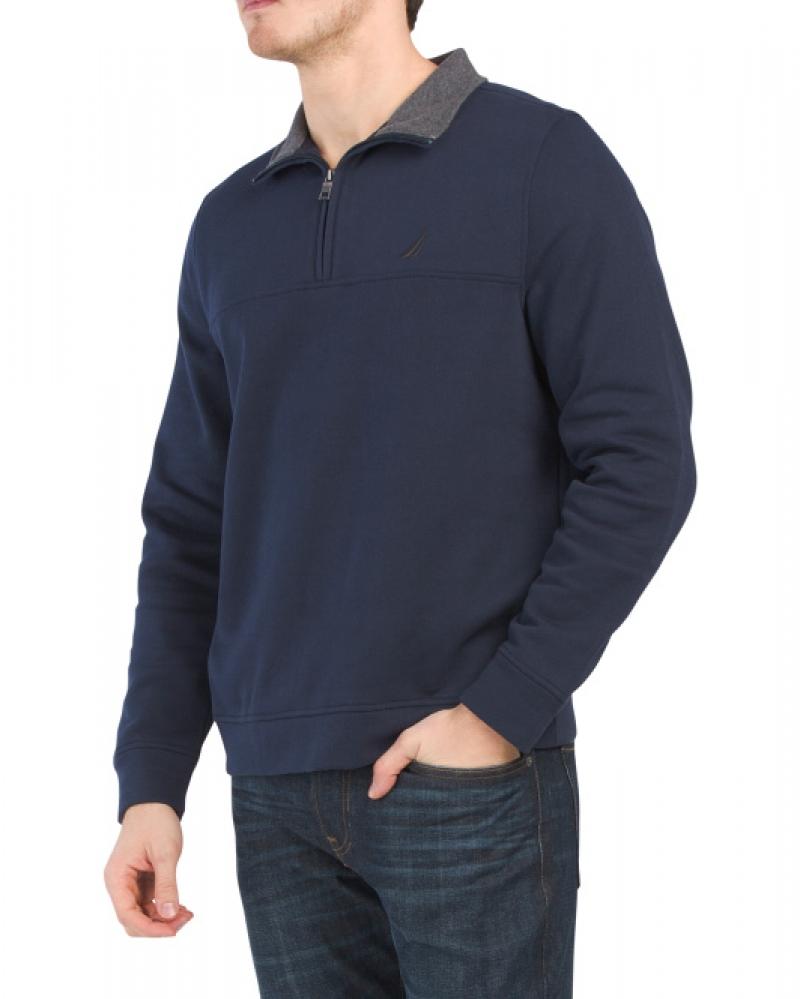 ihocon: NAUTICA Fleece Lined Pullover Sweatshirt 男士長袖衫-多色可選