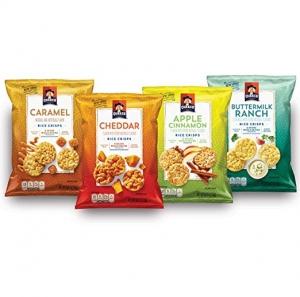 Quaker Rice Crisps 4種口味, 共30包 $11.89免運(原價$16.99)