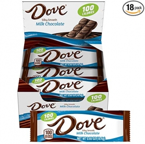 ihocon: DOVE 100 Calories Milk Chocolate Candy Bar 0.65-Ounce Bar 18-Count Box 牛奶巧克力棒