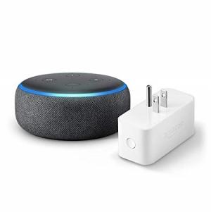 ihocon: Echo Dot (3rd Gen) bundle with Amazon Smart Plug - Charcoal