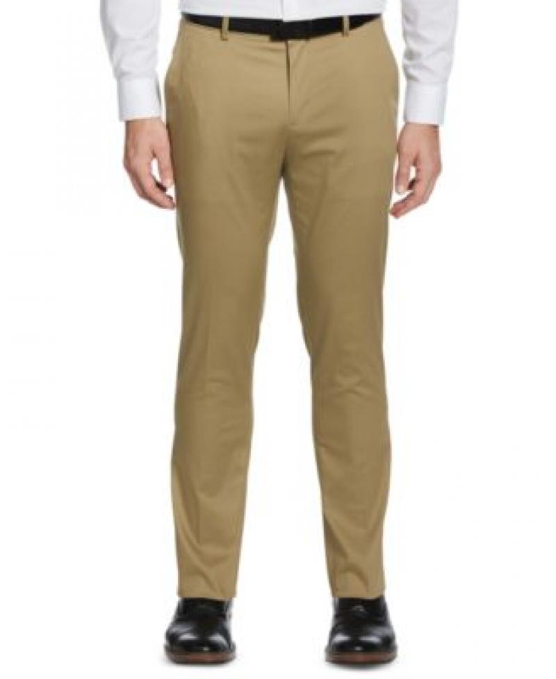 ihocon: Perry Ellis Portfolio Men's Slim-Fit Stretch Cotton Dress Pants   男士長褲