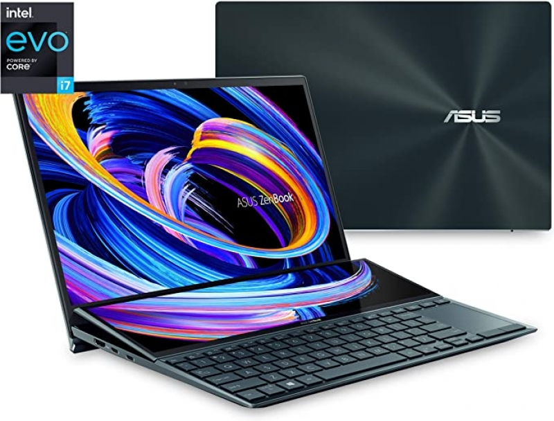 ihocon: Asus ZenBook Duo Dual Screen 14 FHD Touch Laptop (i7-1165G7 8GB 512GB UX482EA-DS71T)